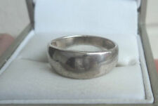 Modernist Sterling Silver Ring or Graduated Band   -   Size K