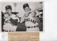 Original 1954 Al Rosen Bobby Avila Indians Wire Photo