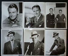 GROUP OF 10 PHOTOS OF LEW AYERS - 1930s TO 40s - WITH PAINTING BY VARGAS