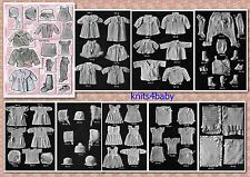 100+ RARE Vintage 1920's ~ BABY Crochet & Knitting PATTERNS ~
