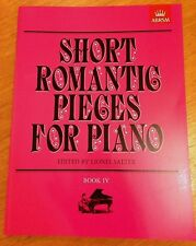 Short Romantic Pieces For Piano Book 4 By Lionel Salter *NEW*  Published ABRSM