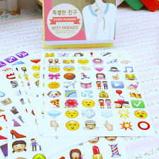 20pcs Cute Face Emoji Emoction Expression Envelope Stickers Yearbook DIY Decor