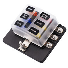 6 fuse block ebay6 way blade fuse box block holder led indicator for 12v 24v car marine ma1284