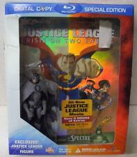 JUSTICE LEAGUE CRISIS ON TWO EARTHS BLU RAY DVD BEST BUY w/ OWL FIGURE DC SEALED