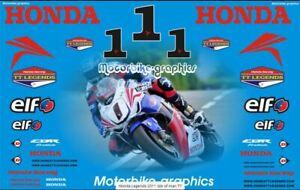Honda TT legends 2011 race decal set