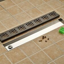 Black Floor Drain Square Bathroom Shower Grate Waste Drainer Oil Rubbed Bronze