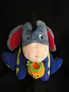 New Disney Store Winnie the Pooh EEYORE Halloween Skeleton Plush Teddy Glow Dark