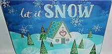 "Glass Cutting Board 11 3/4"" X 7 3/4""  LET IT SNOW"