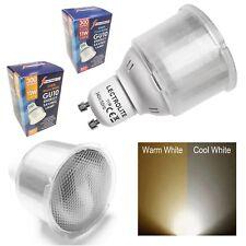 PACK OF GU10 SPOT LAMP CFL LIGHT BULBS 11w=60w WARM or COOL WHITE ENERGY SAVING