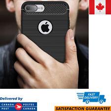 Apple iPhone 7 Plus Case Cover Carbon Fiber TPU Matte Defender Shockproof Black