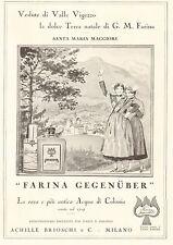 PUBBL.1933 FARINA GEGENUBER FIORE ROSSO VEDUTA  SANTA MARIA MAGGIORE VAL VIGEZZO