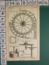 1754 ANTIQUE PRINT SECTIONAL BREAST-MILL ~ HORSE MILL CYDER ~ VARIOUS EQUIPMENT