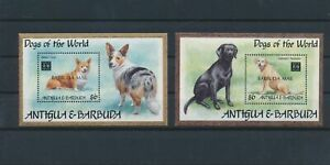LN90439 Antigua & Barbuda pets animals dogs sheets MNH