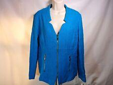 Alfani Women's 100% cotton turquoise Size 12 Zipper Water Cooler Winter sweater