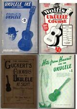 Vintage UKULELE Instruction Books, Ukulele Ike Cliff Edwards, etc.
