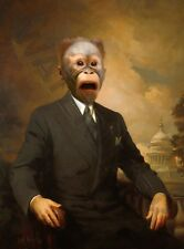 BUSINESS MONKEY IN SUIT WALL ART PRINT POSTER LF3521