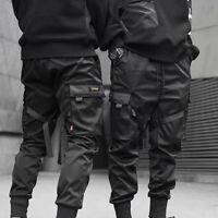 Tactical Street Cargo Black Fashion Trousers Harem Hop Joggers Men Hip Pants
