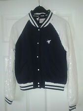 Womens Jacket - Tulisa TFB Collection - Navy & White - Sequins - Unicorn - 10