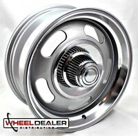 "18x8""-18x9"" ALUMINUM GRAY REV CLASSIC 107 RALLY WHEELS CHEVY GMC C10 SWB LWB 5x5"