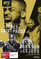 UFC #197 - Jones Vs Saint Preux (DVD, 2016, 2-Disc Set) New Region 4