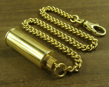 Solid Brass Key chain oil bottle keychain pendant with snap hook for lighter use