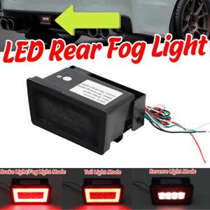 For 2011-up Subaru WRX STi Rear Fog Lamp F1 Style LED Brake Backup Reverse Light