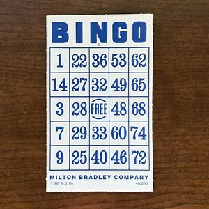 1987 Bingo Game Milton Bradley Replacement Cards Lot Of 23 & 37 Place Markers
