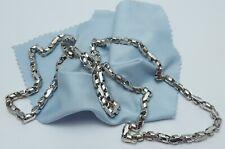Beautiful 14K Karat Solid White Gold Designer Anchor Link Chain Necklace - Nice!