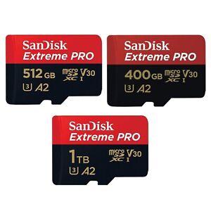 SanDisk 32GB 64GB 128GB 256GB 400GB 512GB 1TB Extreme Pro A2 microSDXC TF Card