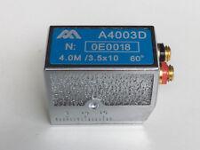 Dual Element Angle Beam Ultrasonic Probe 4Mhz / 3.5x10 mm 60º , For Krautkramer