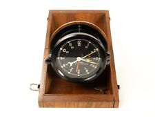New ListingChelsea U.S.Army M2 Message Center Clock In Wooden Hinged Case