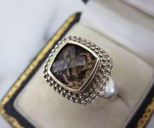 AYA Azrielant Sterling Silver & 14k Yellow Gold Smoky Quartz Ring Sz 9 $125
