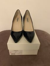 LK Bennett Floret Heel Court Shoes Navy blue Patent UK 6 EU 39