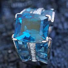 Topas Brillant Ring 9.22 ct TRAUMFARBE 750er WEIßgold MASSIV SW ca.3.910.-Euro