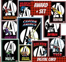 Topps Marvel Collect Award + Full Set (1+9) Avengers Spotlight 2020