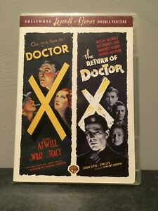 *RARE* DOCTOR X & THE RETURN OF DOCTOR X double bill DVD  bogart lionel atwill
