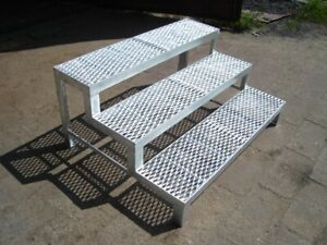 Garden Outdoor Reinforced Metal Galvanised  Stairs- 120cm Wide