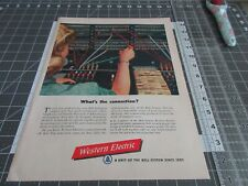 1949 Western Electric, What's the Connection Switch Board, Print Ad