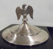 """Top cap lid brass and eagle for old 2 wheel coffee grinder 7 3/4"""" i.d."""