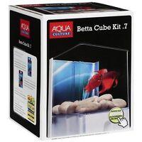 Tetra Betta Aquarium Tank Cube KIT 0.7 Gallon gravel, background, water conditio