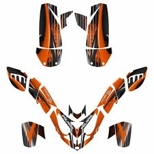 Polaris Predator 500 graphics sticker kit NO3333 Orange Free Custom Service