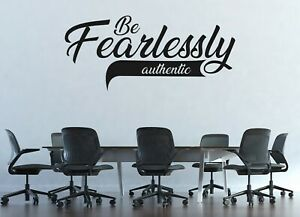 Custom Name Be Fearlessly Wall Decal Decor Sticker Vinyl Lettering COLORS MS1176