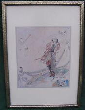 Framed Vintage Danish Art Print Artist Kay Nielsen 1912 Fairy Tale Illustration