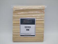 Modelfix Scenics 250 Long Wooden Lolly Sticks 150mm X 10mm for Model Making