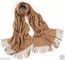 New Women's Winter 100% Cashmere Pashmina Solid Camel Shawl Wrap Scarf Scarves
