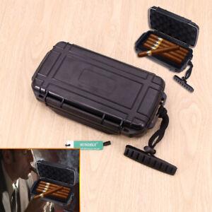 Portable IP68 Waterproof Travel 20-Cigars Plastic Cigar Humidor Storage Box AU