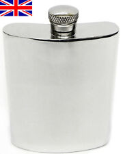 Hand Made Sheffield Pewter Hip Flask, 6oz Kidney with Free Engraving