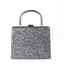 Glitter Evening  Clutch Bag/ Bridal Party Purse Handbag With Handle For Women