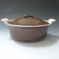 Vintage brown oval Cousances Le Creuset France casserole baking dish 3 pint