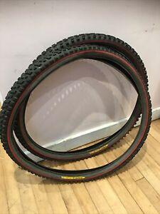 "Red Tyres Bontrager Jones 49/53 46/50 26 2.1 1.95 26"" Retro Mountain Bike Tires"